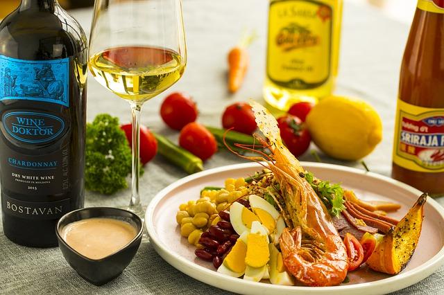 wine-food-vino-seafood-food